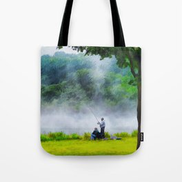 The Father and Son Fishers (Color) Tote Bag