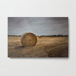 Bales of hay Metal Print