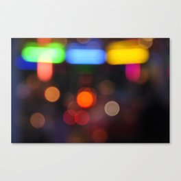 Night Light Colors Canvas Print
