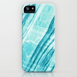Abstract Marble - Teal Turquoise iPhone Case
