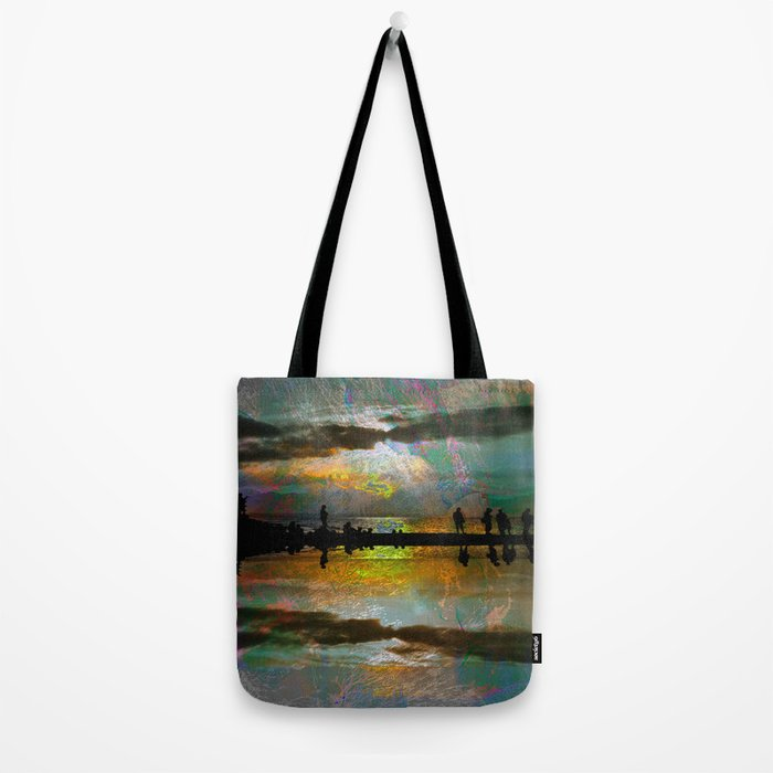Abstract-art sunset Tote Bag