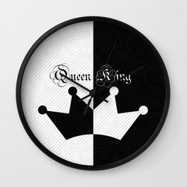 His Hers Queen and King Crown Wall Clock