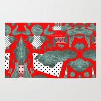 crocodile Area & Throw Rugs featuring crocodile by BUBUBABA