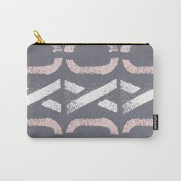 Shapes Of Love - Retro Grey Pink Pastel Carry-All Pouch