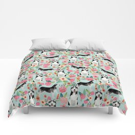 Husky dog breed must have gifts for dog person husky owner presents Comforters