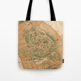 Vintage Groningen Netherlands Map (1903) Tote Bag