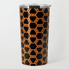 Orange Freeman Lattice Travel Mug