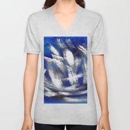 Cosmic blue white Unisex V-Neck