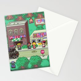 Earthbound town Stationery Cards