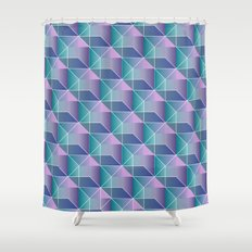 Geometricked  Shower Curtain