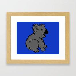 The amusing koala Framed Art Print