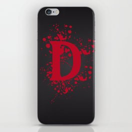 Dangerous Bloody Black Background iPhone Skin