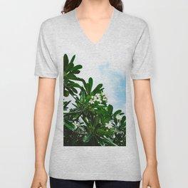 Hawaiian Blooms Unisex V-Neck