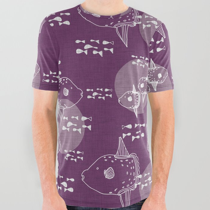 Mola_Mola_PurpleOcean_sunfish_All_Over_Graphic_Tee_by_BruxaMagica_susycosta__Large