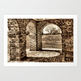 Looking Through the Arches Art Print