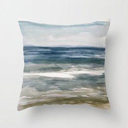 Island Beach State Park II Throw Pillow
