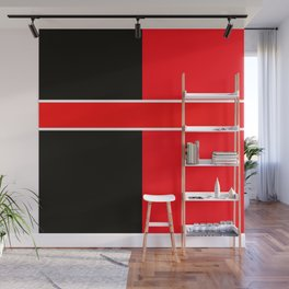 Team Colors 6...red,black,white Wall Mural