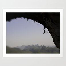 Shoulin Cliffhanger by Boone Speed Art Print