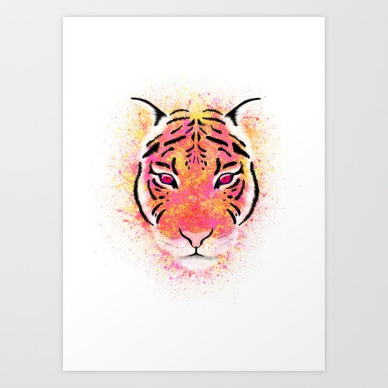Sherbet Tiger Art Print
