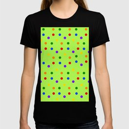 Playful Dots on kivi colored background T-shirt