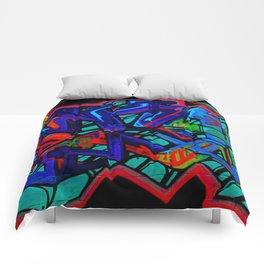 Graffiti Downtown ATL Comforters