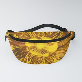 Abstract Lines Yellow  Flower Fanny Pack
