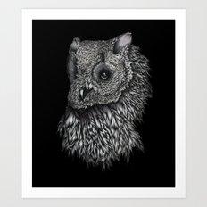 Forsythe in Black Art Print