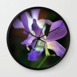 Lavendar Orchid Wall Clock