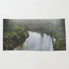 There Is Magic In the Woods Beach Towel