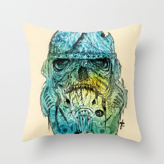 Storm Zombie Throw Pillow