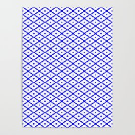 Simply bluewhite pattern ... Poster