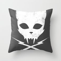 Stunt Kitty Throw Pillow