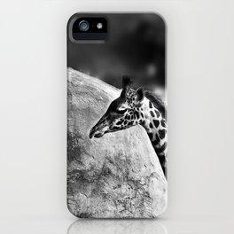 Whiteout - Giraffe iPhone Case