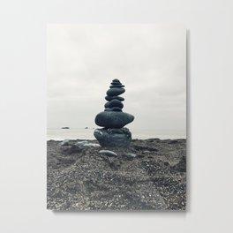 Zen - Rock Balancing Metal Print