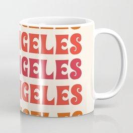 Los Angeles - retro vibes throwback minimal typography 70s colors 1970's LA Coffee Mug