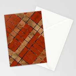 Retro pastel plaid pattern N8 Stationery Cards