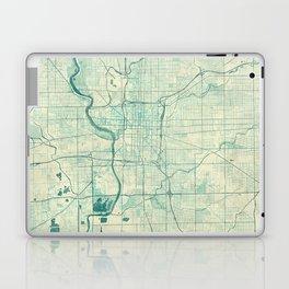 Indianapolis Map Blue Vintage Laptop & iPad Skin