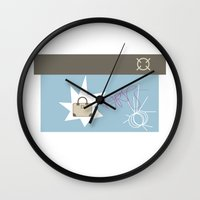 bag Wall Clocks featuring bag by skip ad
