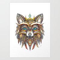 Prince Fox Art Print
