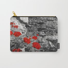 Red Flowers Wall Carry-All Pouch