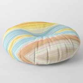 Colorbands Yellowstone Yellow Floor Pillow