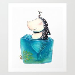 Shark Cube Art Print
