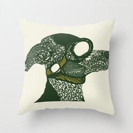 Dog likes to fly planes Throw Pillow