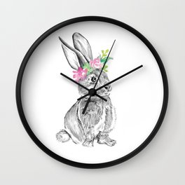 Bunny | Animal Illustration Wall Clock