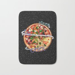 Pizza is cool Bath Mat