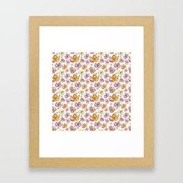 Cute Bright Floral Print Framed Art Print