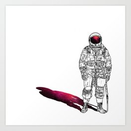 The astonaut Art Print
