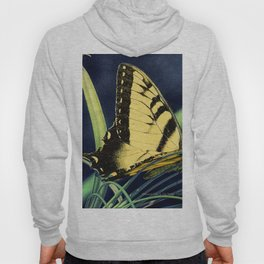 Yellow Tiger Swallowtail Butterfly A125 Hoody