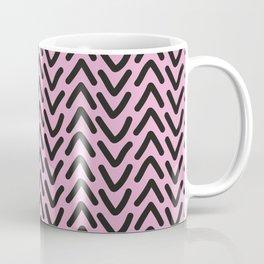 chevron pink rose Coffee Mug