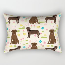 Chocolate Lab labrador retriever dog breed pet art easter pattern costume spring Rectangular Pillow